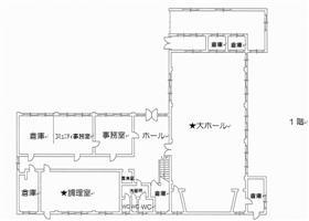 長与公民館平面図