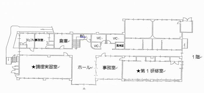 5.上長与公民館 b.●平面図
