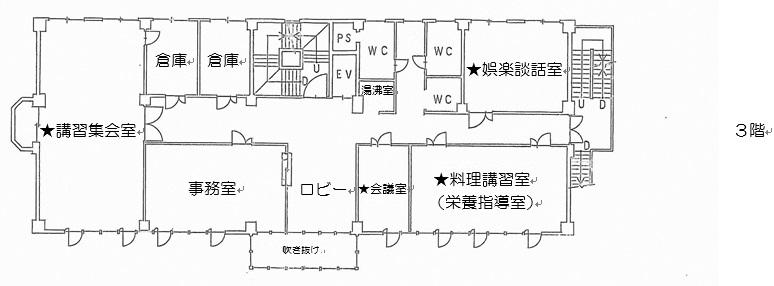 7.勤労青少年ホーム b.●平面図